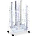 Safco 24 Compartments Wire Storage File, 24 Roll(s) - 1 Each - White
