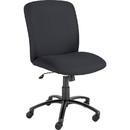 Safco Big & Tall Executive High-Back Chair, Black - Foam Black, Polyester Seat - Black Frame