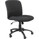 Safco Big & Tall Executive Mid-Back Chair, Black - Foam Black, Polyester Seat - Black Frame