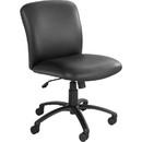 Safco Uber Big and Tall Mid-back Management Chair, Vinyl Black Seat - Black Frame - 27