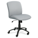Safco Big & Tall Executive Mid-Back Chair, Foam Gray, Polyester Seat - Black Frame