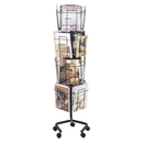 Safco Rotary Floor Display Rack, 60