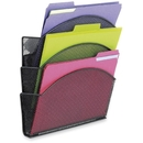 Safco Magnetic Triple File Pocket, 13.5