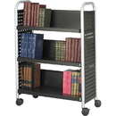 Safco Scoot Single Sided Book Cart, 3 Shelf - 4 x 3