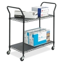 Safco Wire Utility Cart, 2 Shelf - 400 lb Capacity - 4 x 3