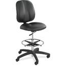 Safco Apprentice II Extended Height Armless Drafting Chair, Black - Vinyl Black Seat - Vinyl Back - 26