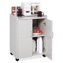 Safco Mobile Refreshment Utility Cart, 1 Shelf - 200 lb Capacity - 4 x 2
