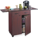 Safco Hospitality Service Cart, 1 Shelf - 4 Caster - Wood - 32.5