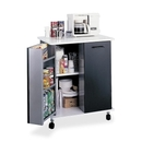 Safco Mobile Refreshment Stand, 3, 1 ShelfMelamine, Laminate - 29.5