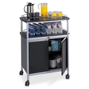 Safco Mobile Beverage Cart, 1 Shelf - 4 x 3.50