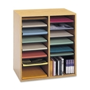 Safco 16 Compartments Adjustable Shelves Literature Organizer, 21.1