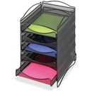 Safco 5 Drawer Mesh Desktop Organizer, 15.3