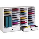 Safco 32 Compartments Adjustable Literature Organizer, 25.4
