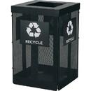 Safco Onyx Waste Receptacle, SAF9936BL