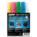 Expo Bright Stick Marker Set, Bullet Marker Point Style - Pink, Blue, White, Yellow, Green Ink - Assorted Barrel - 5 / Set