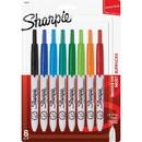 Sharpie Permanent Marker, Fine Marker Point Type - Black, Blue, Aqua, Turquoise, Green, Lime, Tangerine, Red Ink - 8 / Set