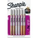 Sharpie Metallic Permanent Markers, Assorted, 6/Pack
