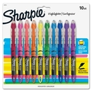 Sharpie Pen-style Liquid Highlighters, Micro Marker Point Type - Chisel Marker Point Style - Assorted Ink - 10 / Set