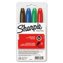 Sharpie Super Permanent Marker, Bold Marker Point Type - Black, Red, Blue, Green Ink - Assorted Barrel - 4 / Set