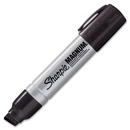Sharpie Magnum Permanent Marker, Jumbo Marker Point Type - 15.9 mm Marker Point Size - Chisel Marker Point Style - Black Ink - Silver Barrel - 1 Each