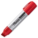 Sharpie Magnum Permanent Marker, 15.9 mm Marker Point Size - Chisel Marker Point Style - Red Ink - Silver Barrel - 1 Each