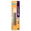 Uni-Ball Gel Impact Rollerball Pen Refill, 1 mm - Black - 2 / Pack