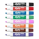 Expo II Dry Erase Markers, Chisel Marker Point Style - Black, Red, Blue, Green, Pink, Orange, Brown, Purple Ink - Assorted Barrel - 8 / Set