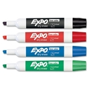 Expo Dry Erase Markers, Chisel Marker Point Style - Green, Red, Blue, Black Ink - 4 / Set