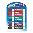Expo Dry Erase Marker, Chisel Marker Point Style - Assorted Ink - 8 / Pack