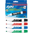Expo Dry Erase Markers, Bullet Marker Point Style - Assorted Ink - 4 / Set