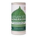 Seventh Generation 100% Recycled Paper Towel Rolls, 2 Ply - 120 Sheets/Roll - 120 / Roll - 11
