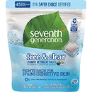 Seventh Generation Free/Clear Laundry Detergent Packs, SEV22977