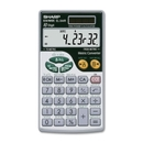 Sharp EL344RB Metric Conversion Travel Calculator, 44 Functions - 10 Character(s) - LCD - Battery/Solar Powered - 2.8