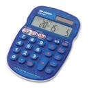 Sharp ELS25 Quiz Calculator, 10 Character(s) - LCD - Battery/Solar Powered