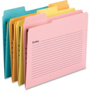 Smead SuperTab Notes Folder, One Fastener, 1/3-Cut SuperTab, Letter Size, Assorted Colors, 24 per Pack (11974)