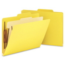 Smead 13704 Yellow Classification File Folders, Letter - 8.50