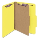 Smead 13734 Yellow Colored Pressboard Classification Folders with SafeSHIELD Fasteners, Letter - 8.50
