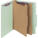 Smead 14076 Gray/Green Pressboard Classification Folder with SafeSHIELD Fasteners, Letter - 8.50
