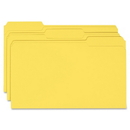 Smead 17943 Yellow Colored File Folders, Legal - 8.50