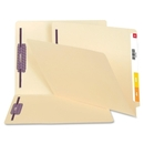 Smead End Tab File Folder with SafeSHIELD Fasteners, Reinforced Straight-Cut Tab, 2 Fasteners, Letter Size, Manila, 50 per box (34117)