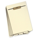 Smead 35600 Manila Folder Dividers with Fastener, Letter - 8.50