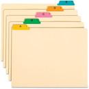 Smead 50180 Manila Guides with Alphabetic Indexed Sets, 25 x Tab - PrintedA - Z - 5 Tab(s)/Set - 25 / Set - Manila Divider - Multicolor Tab