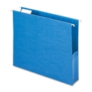 Smead 64250 Sky Blue Colored Hanging Pockets with Tab, Letter - 8.50