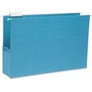Smead 64370 Sky Blue Colored Hanging Pockets with Tab, Legal - 8.50