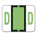 Smead 67074 Light Green BCCR Bar-Style Color-Coded Alphabetic Label - D, 1.25
