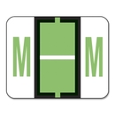 Smead 67083 Light Green BCCR Bar-Style Color-Coded Alphabetic Label - M, 1.25