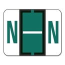 Smead 67084 Dark Green BCCR Bar-Style Color-Coded Alphabetic Label - N, 1.25