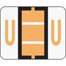 Smead 67091 Light Orange BCCR Bar-Style Color-Coded Alphabetic Label - U, 1.25
