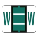 Smead 67093 Dark Green BCCR Bar-Style Color-Coded Alphabetic Label - W, 1.25