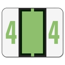 Smead 67374 Light Green BCCRN Bar-Style Color-Coded Numeric Label - 4, 1.25